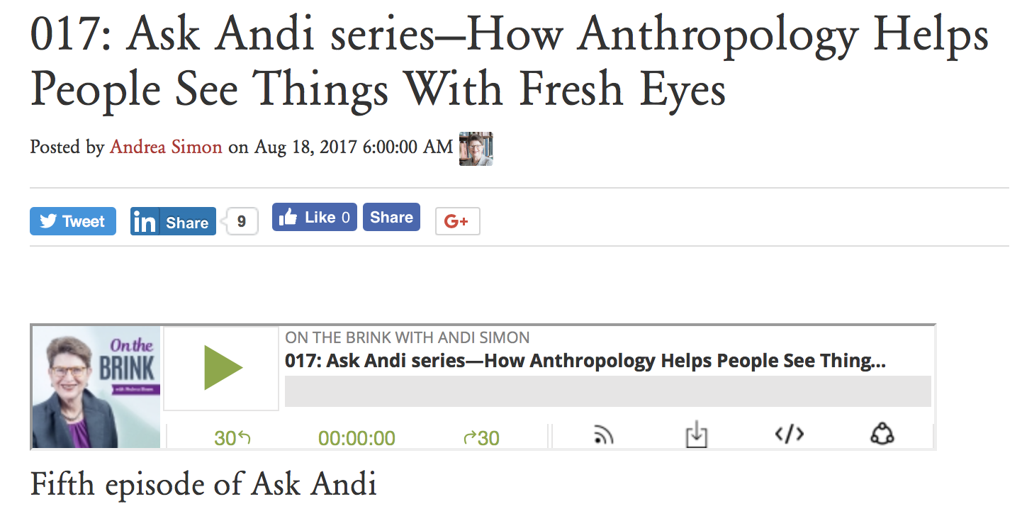 Ask Andi Anthropology Podcast