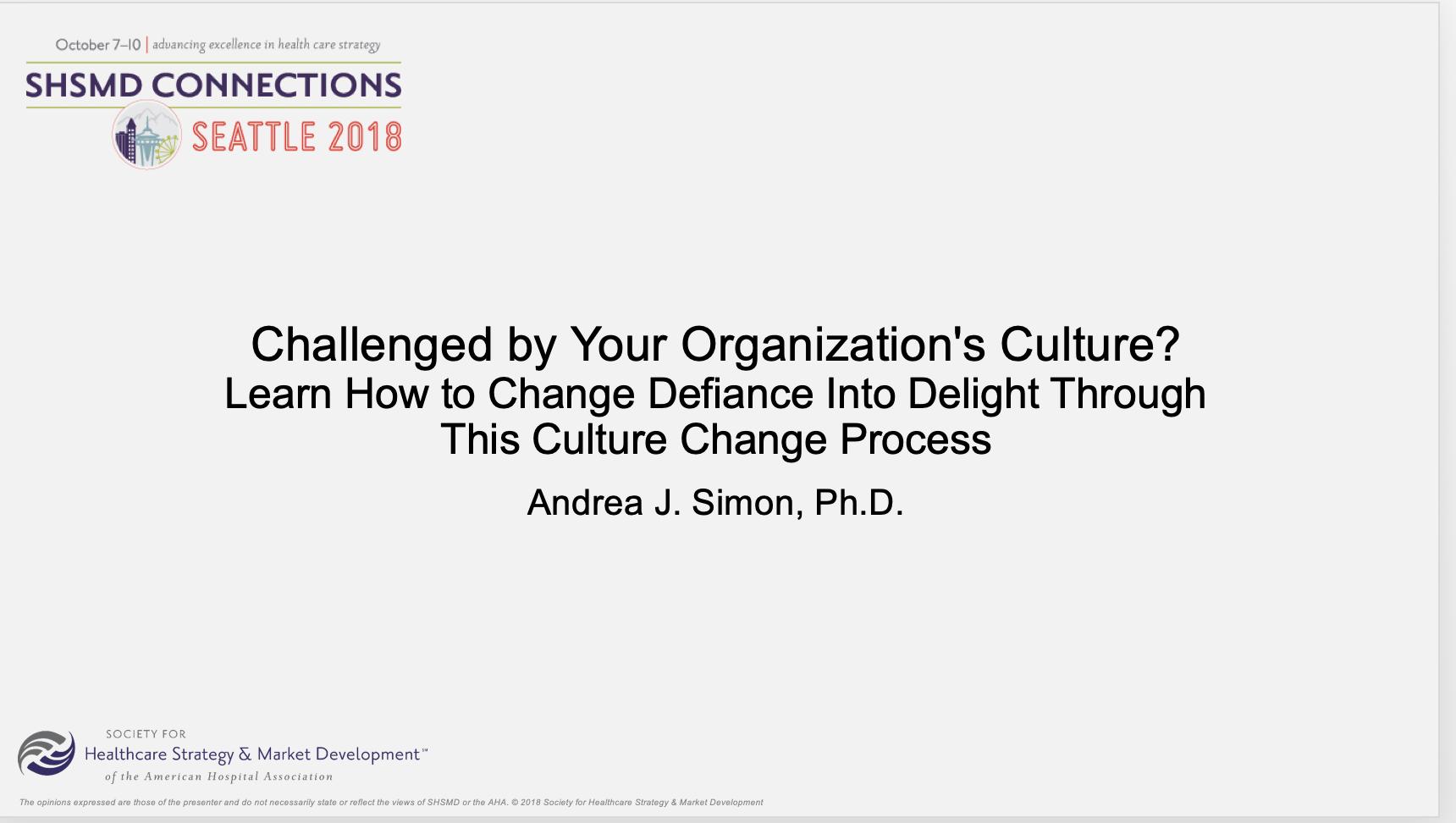 SHSMD Culture Change